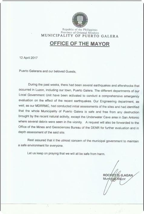 Announcement from The Mayors Desk